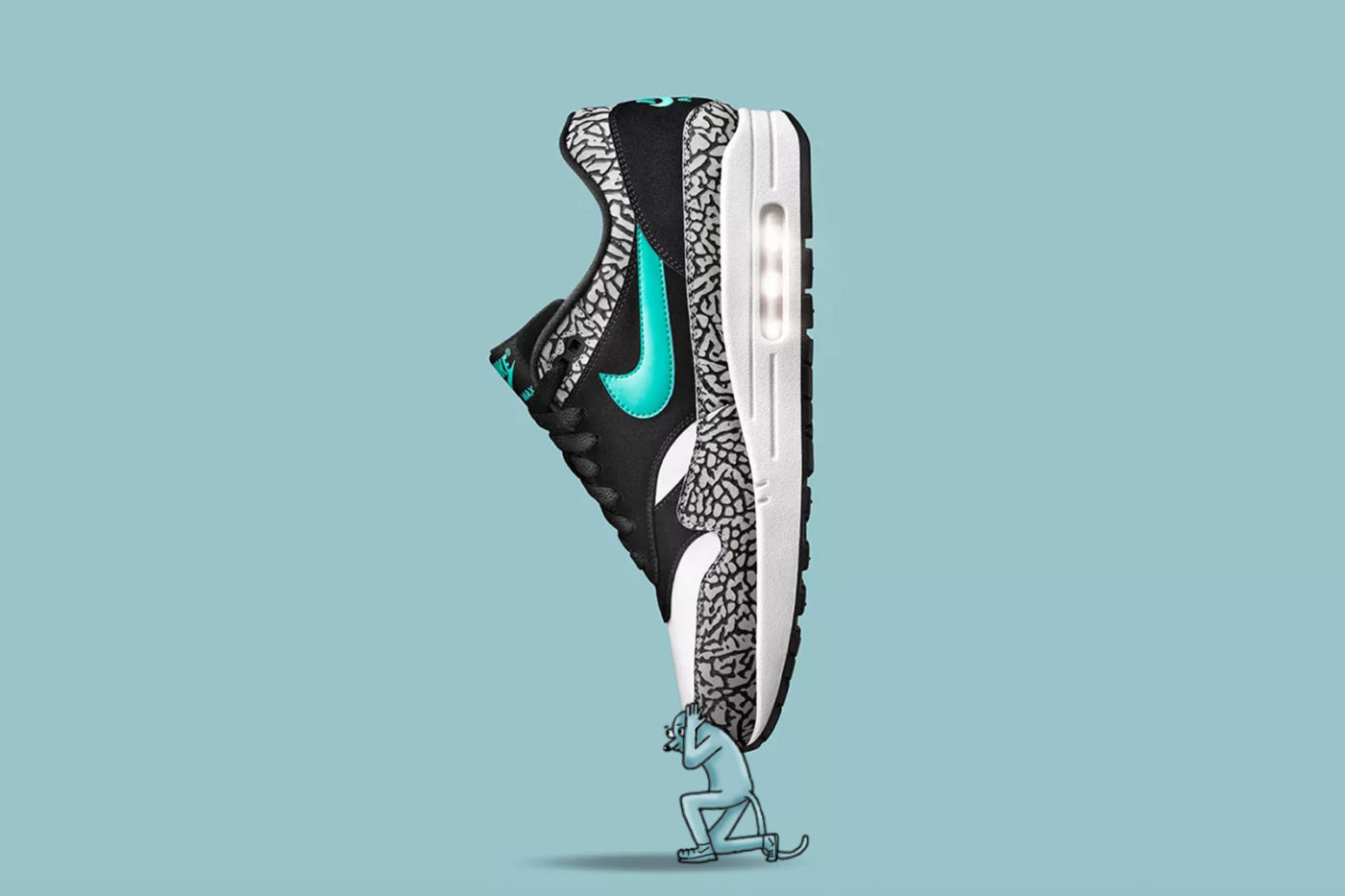 AJS artwork partnership with Nike for Air Max Day
