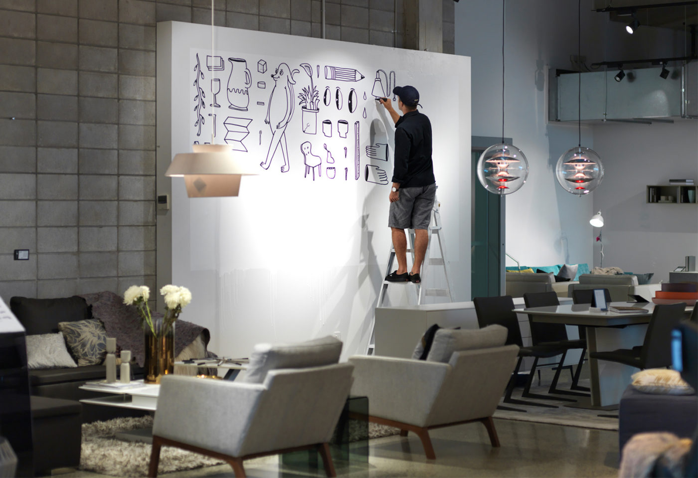BoConcept install for Urbis Design Day, Auckland, 2017
