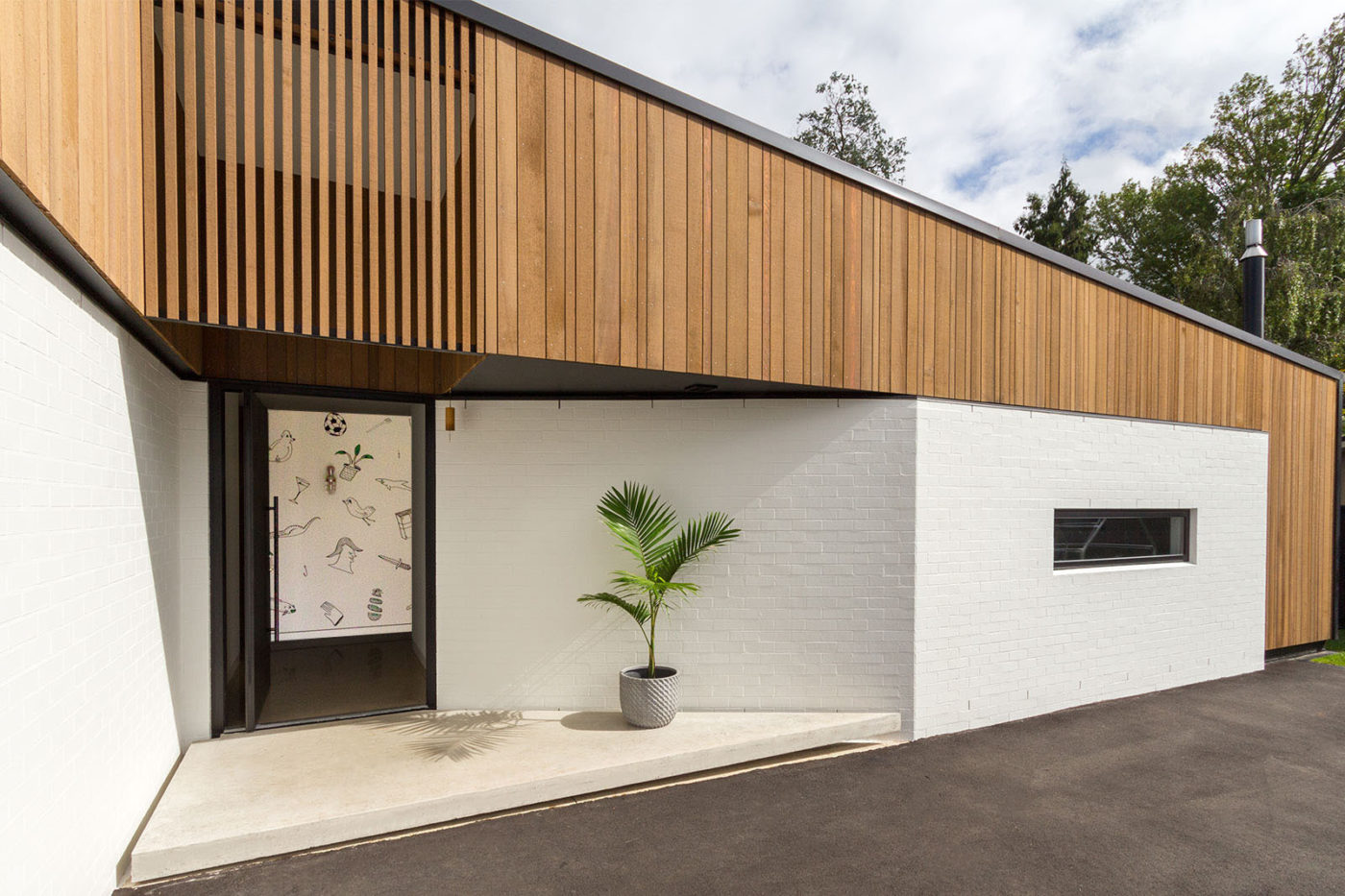 The Splay House entrance commission, Hamilton, 2016. Architect & photo: Edwards White Architects